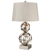 Stein World 77036 Strapped Orb 29 inch Brushed Steel Table Lamp Portable Light
