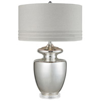Vanessa 32 inch Silver Mercury Glass Table Lamp Portable Light