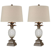 Aged Glass Table Lamps
