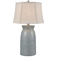 Stein World 77080 Mackinac 30 inch 150 watt Lightly Antiqued Blue Glaze Table Lamp Portable Light