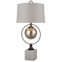 Stein World 77081 Front Royal 36 inch 150 watt Concrete with Bronze Table Lamp Portable Light photo thumbnail