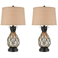 Antique Mercury Glass Steel Table Lamps