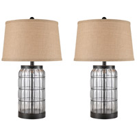 Clear Steel Table Lamps