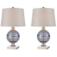 Stein World 77097/S2 Gooseberry 25 inch 100 watt Blue Smoke/Polished Nickel Table Lamp Portable Light