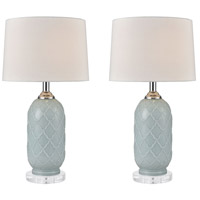 Pale Blue Crystal Table Lamps