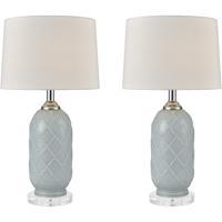 Stein World 77099/S2 La Joliette 24 inch 100 watt Pale Blue/Clear Crystal Table Lamp Portable Light