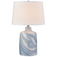 Stein World 77111 Clear Sky 25 inch 150 watt Blue with White Table Lamp Portable Light photo thumbnail
