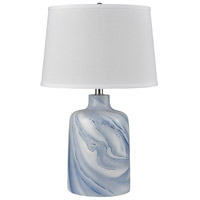 Stein World 77111 Clear Sky 25 inch 150 watt Blue with White Table Lamp Portable Light alternative photo thumbnail