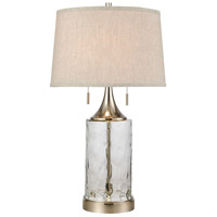 Stein World 77119 Tribeca 27 inch 60 watt Clear/Polished Nickel Table Lamp Portable Light