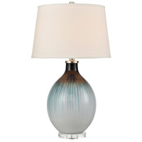 Blue Glassmetal Glass Table Lamps