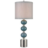 Stein World 77139 Sika 36 inch 150 watt Teal Crackle / Polished Nickel Table Lamp Portable Light