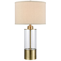 Stein World 77149 Fermont 28 inch 150 watt Clear Glass / Antique Brass Table Lamp Portable Light