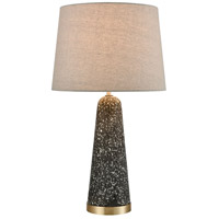Stein World 77153 Port 17 26 inch 150 watt Gray Terazzo / Antique Brass Table Lamp Portable Light