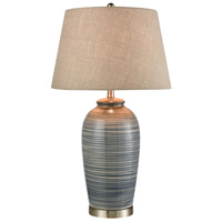 Stein World 77155 Monterey 31 inch 150 watt Blue Glaze / Satin Nickel Table Lamp Portable Light