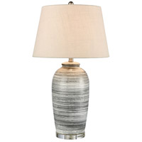 Stein World 77156 Monterey 31 inch 150 watt Gray / Antique Nickel Table Lamp Portable Light