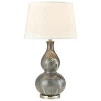 Gray and Nickel Table Lamps