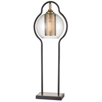 Rubbed Bronze Glass Table Lamps