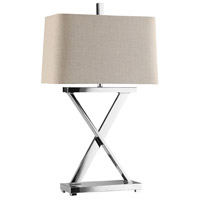 Stein World 90005 Max 31 inch 100 watt Chrome Table Lamp Portable Light