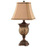 Kirana 30 inch 100 watt Antique Bronze Table Lamp Portable Light