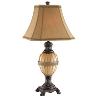 Krista 31 inch 150 watt Bronze and Amber Table Lamp Portable Light