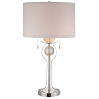 Polished Chrome Crystal Table Lamps