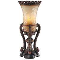 Chantilly 22 inch 25 watt Bronze Scroll Base Uplight Portable Light