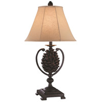Big Sur 17 X 17 inch Rustic Iron Pinecone Table Lamp Home Decor