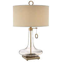 Stein World 98819 Eden 29 inch 100 watt Clear and Antique Brass Table Lamp Portable Light alternative photo thumbnail