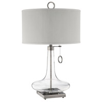 Eden 29 inch 100 watt Antique Brass/Clear Table Lamp Portable Light