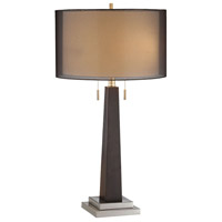 Jaycee 29 inch 60 watt Black Table Lamp Portable Light