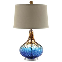Shelley 26 inch 100 watt Cobalt Blue Table Lamp Portable Light