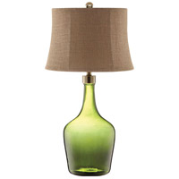 Trent 32 inch 100 watt Green Table Lamp Portable Light