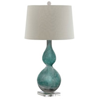 Stein World 99693 Atria 31 inch 150 watt Blue and White with Clear Table Lamp Portable Light