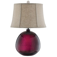 Red Glass Table Lamps