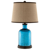 Blue Wood Table Lamps