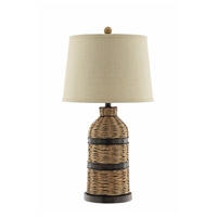 Caravel 28 inch 150 watt Natural and Dark Bronze Table Lamp Portable Light