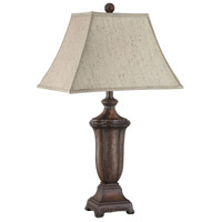 Maddox 30 inch 60 watt Dark Brown Table Lamp Portable Light