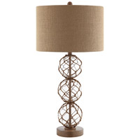 Stein World 99789 Breeze 30 inch 100 watt Black and Clear with Brown Table Lamp Portable Light