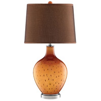 October 29 inch 150 watt Orange and Brown Table Lamp Portable Light
