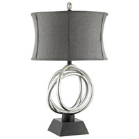 Trinity 31 inch 150 watt Silver and Black Table Lamp Portable Light