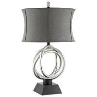 Stein World 99849 Trinity 31 inch 150 watt Silver and Black Table Lamp Portable Light