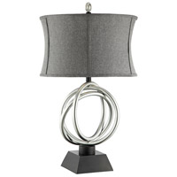 Stein World 99849 Trinity 31 inch 100 watt Silver and Black Table Lamp Portable Light alternative photo thumbnail