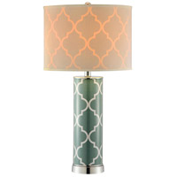 Stein World 99854 Casablanca 27 inch 60 watt Green and Silver Table Lamp Portable Light