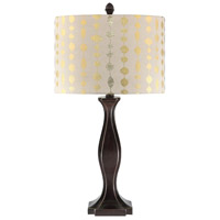 Fiora 26 inch 100 watt Gold and Silver Table Lamp Portable Light