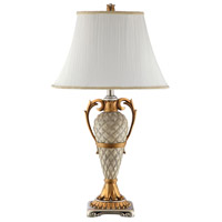 Stein World 99858 Clarion 31 inch 150 watt Silver and Antique Gold Table Lamp Portable Light