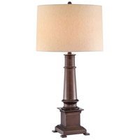 Whitaker 34 inch 150 watt Dark Bronze Table Lamp Portable Light