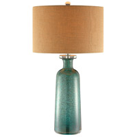 Bayshore 30 inch 100 watt Blue and Brown Table Lamp Portable Light