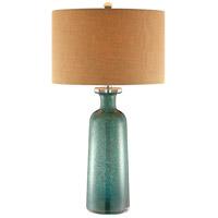 Stein World 99872 Bayshore 30 inch 100 watt Blue and Brown Table Lamp Portable Light