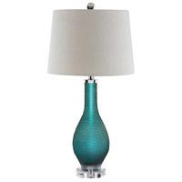 Stein World 99876 Balis 28 inch 100 watt Sea Blue Table Lamp Portable Light