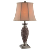 Telles 28 inch 100 watt Aged Brown and Pewter Table Lamp Portable Light